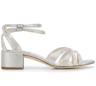 Rene Caovilla Open Toe Sequin Sandals