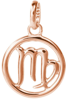 Mocha Zodiac Charm w/ 18K Rose Gold Vermeil - Virgo