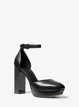 MICHAEL Michael Kors Petra Leather Platform Pump
