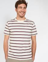 Fat Face Stitch Stripe Crew Neck T-Shirt