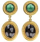 Ben-Amun Gypset Malachite Drop Earrings
