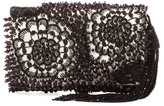 Oscar de la Renta Beaded Silk Petite Evening Clutch