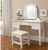 Home Styles Naples Vanity Table and Bench