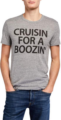 Chaser Men's Cruisin For A Boozin Typographic T-Shirt