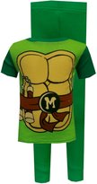 AME Sleepwear Teenage Mutant Ninja Turtle Michelangelo Toddler Pajama Set for boys