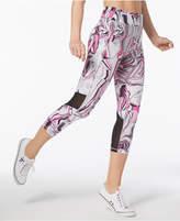 Calvin Klein Printed High-Waist Cropped Leggings