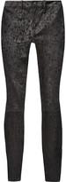 J Brand Metallic leopard-print suede skinny pants