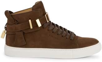 Buscemi Clip Suede High-Top Sneakers