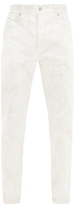 Maison Margiela Marble-dyed Cotton Straight-leg Jeans - White