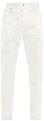 Maison Margiela Marble-dyed Straight-leg Jeans - White