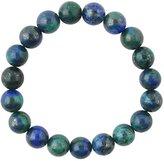 Barse Genuine Azurite Stone Stretch Bracelet