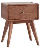 Verona Home Hanna Danish 1-Drawer Nightstand in Chestnut