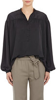 Tomas Maier Women's Washed Charmeuse Poet Blouse-BLACK
