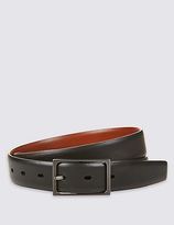 M&S Collection Leather Centre Bar Reversible Belt