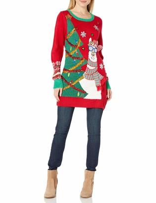 Blizzard Bay Women's Ugly Christmas Llama Tunic