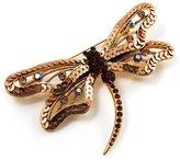 Avalaya Jumbo Sequin Dragonfly Brooch ( Tone & Amber Coloured)