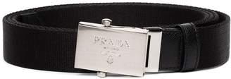 Prada logo-engraved buckle belt