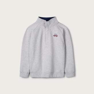 The White Company Half-Zip Sweatshirt (1-6yrs), Grey, 1 1/2-2yrs