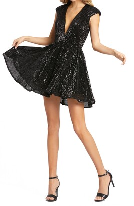 Mac Duggal Sequin Fit & Flare Cocktail Dress