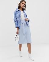 UNIQUE21 gingham side tie skirt