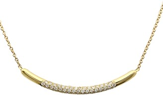 Bony Levy Kiera Diamond Curved Bar Pendant Necklace
