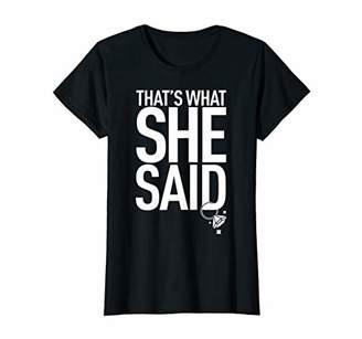 Womens Matching Bachelorette Party Shirt - What She Said Tee White