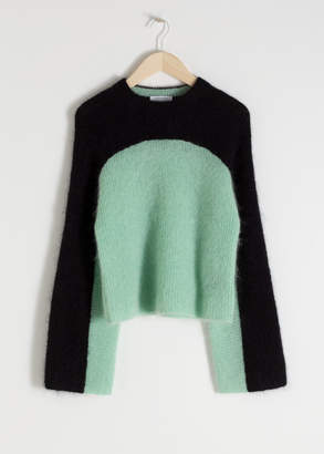 And other stories Cropped Colourblock Sweater