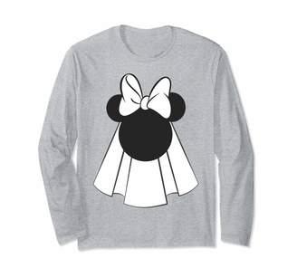 Disney Minnie Mouse Wedding Gown Head Portrait Long Sleeve T-Shirt