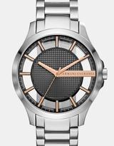 Armani Exchange Hampton Silver-Tone Analogue Watch