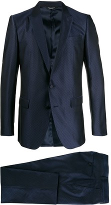 Dolce & Gabbana Geometric-Jacquard Two-Piece Dinner Suit