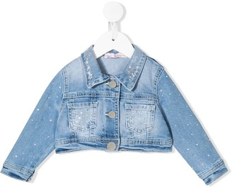 Miss Blumarine Cropped Denim Jacket