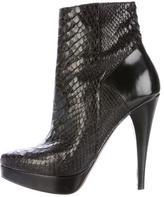 Barbara Bui Python Platform Ankle Boots
