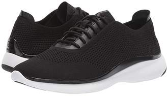 Cole Haan 3.Zerogrand Stitchlite Oxford (Black Knit/Black Leather/Black/Optic White) Women's Shoes