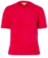 Michael Kors Angora Blend Short Sleeve Top in Azalea