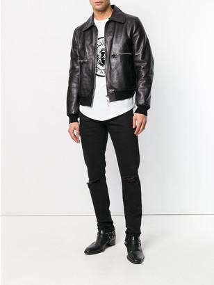 Balmain Slim Fit Ripped Jeans Black