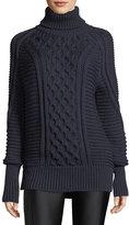 Mary Katrantzou Chunky Cable-Knit Wool Sweater