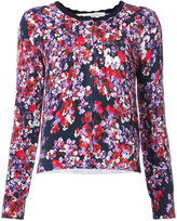Carolina Herrera floral print buttoned cardigan