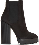 Dolce & Gabbana Black Suede Platform Boots