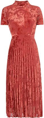 Harlow Pleated Devore Dress