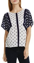 Vince Camuto Womens Crinkled Foulard Print Blouse