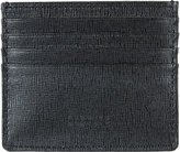Barneys New York MEN'S SAFFIANO-LEATHER CREDIT CARD CASE-BLACK