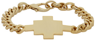 Marcelo Burlon County of Milan Gold Cross Chain Bracelet