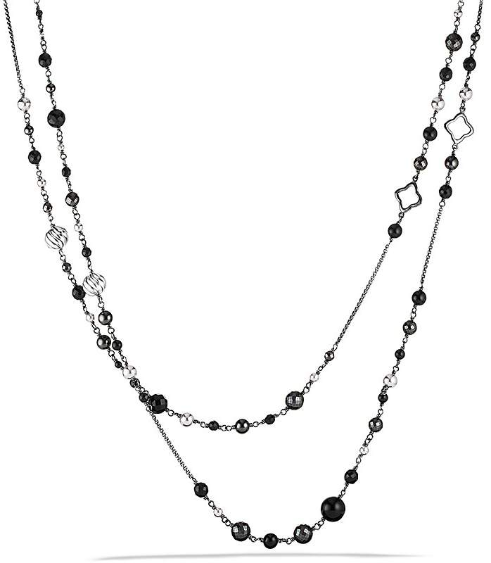 David Yurman DY Elements Chain Necklace with Black Onyx & Hematine