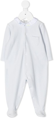 Bonpoint Contrast-Collar Buttoned Pajamas