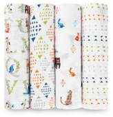 Aden Anais aden + anais Aden + Anais® 4-Pack Paper Tales Swaddle Blanket in White