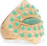 Aurelie Bidermann Gold-plated turquoise ring