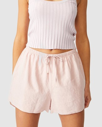 Cotton On Women's Pink High-Waisted - Cali Pull On Shorts - Size 6 at The Iconic