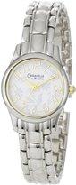 Bulova Caravelle Bracelet White Floral Dial Women's watch L124