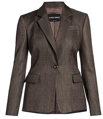 Giorgio Armani Virgin Wool-Blend Single Breasted Jacket