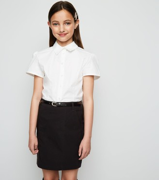New Look Girls Belted Slim Stretch Skirt